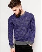 Fred Perry Laurel Wreath Sweater With Space Dye Pattern - Lyst