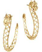 John Hardy Gold Naga Hoop Earrings - Lyst