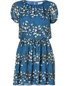 RED Valentino Silk Printed Dress - Lyst