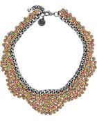 Venessa Arizaga Wild Horses Silvertone and Thread Necklace - Lyst
