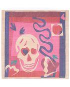 Alexander McQueen Skull Print Silk Chiffon Scarf - Lyst
