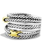 David Yurman Double X Crossover Ring - Lyst