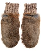 By Malene Birger Bellish Rabbit Fur Mittens - Lyst