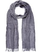 Woolrich Stripes And Dots Cotton Scarf - Lyst