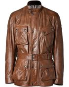 Belstaff Leather Panther Jacket - Lyst