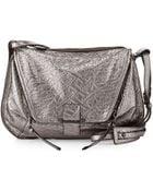 Kooba Leroy Metallic Woven Leather Messenger Bag - Lyst