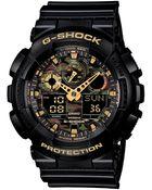 G-Shock Men'S Analog-Digital Black Resin Strap Watch 55X51Mm Ga100Cf-1A9 - Lyst