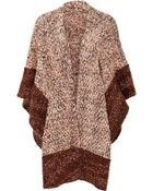 Missoni Wool-Cotton-Cashmere Knit Poncho - Lyst