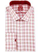 English Laundry Glen Plaid Woven Dress Shirt - Lyst