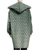 Stella McCartney Geometric Wool Jacquard Caban Coat - Lyst