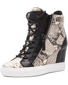 Giuseppe Zanotti Loren Leather Wedge Sneakers - Lyst