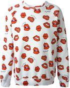 Au Jour Le Jour Lip Print Sweatshirt - Lyst