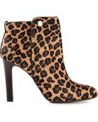 Tory Burch Leopard Print Boots - Lyst