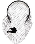 RED Valentino Viscose Satin Headband With Veil - Lyst
