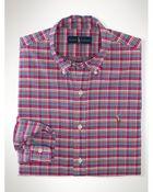 Ralph Lauren Plaid Oxford Sport Shirt - Lyst