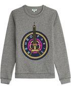 Kenzo Embroidered Logo Sweatshirt - Lyst