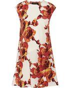Thakoon Printed Silk Crepe De Chine Dress - Lyst