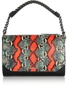McQ by Alexander McQueen Elise Elaphe And Leather Shoulder Bag - Lyst