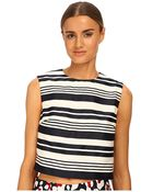 RED Valentino Striped Jacquard Top - Lyst