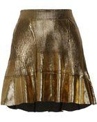 Ohne Titel Coated Ribbed Cotton Mini Skirt - Lyst