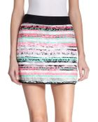 Milly Couture Stripe Mini Skirt - Lyst