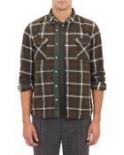 Sacai Plaid-Pattern Quilted Shirt Jacket - Lyst