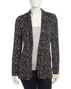 Diane von Furstenberg Vint Fleck-Print Silk Jacket - Lyst