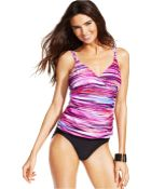 Inc International Concepts Printed Empire-Waist One-Piece Swimsuit - Lyst