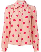 RED Valentino Polka Dot Blouse - Lyst