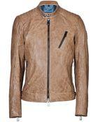 Belstaff Leather Kirkham Jacket - Lyst