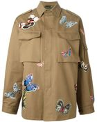 Valentino Embroidered Camubutterfly Cotton Jacket - Lyst