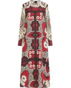 Valentino Silk Printed Maxi-Dress - Lyst
