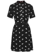 Topshop Paisley Stitch Detail Tea Dress - Lyst