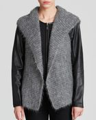 Eileen Fisher Hooded Vest - Lyst