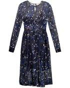 Preen By Thornton Bregazzi Copley Floral-Devoré Silk Dress - Lyst