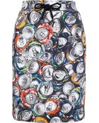 Moschino Can Print Cotton Skirt - Lyst