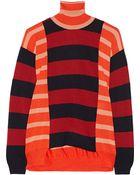 Stella McCartney Striped Wool Turtleneck Sweater - Lyst