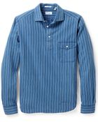 Gant Rugger Indigo Grandpa Shirt - Lyst