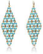 Diane von Furstenberg Honey Turquoise Faceted Bead Drape Drop Earring - Lyst