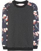 Tory Burch Ronnie Cotton Sweater - Lyst