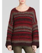 Free People - Slouchy Pullover |||A|F134X699|Rich Berry Combo| - Lyst