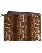 Graphic Image Faux Python Laptop Case in Brown - Lyst