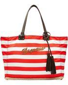 DSquared² Striped Cotton Shopper - Lyst