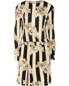 Suno Printed Jersey Dress - Lyst