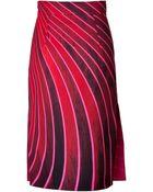 Akris Cotton Printed Pencil Skirt - Lyst