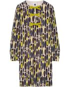 M Missoni Printed Silk-Crepe Dress - Lyst
