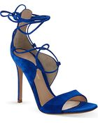 Gianvito Rossi Coburg Suede Heeled Sandals - For Women - Lyst
