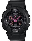 G-Shock Men'S Analog-Digital Black Resin Strap Watch 41X55Mm Ga100C-1A4 - Lyst