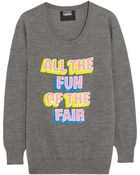 Markus Lupfer All The Fun Of The Fair Sequined Merino Wool Sweater - Lyst