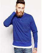 YMC Crew Sweatshirt Varied Stripe - Lyst